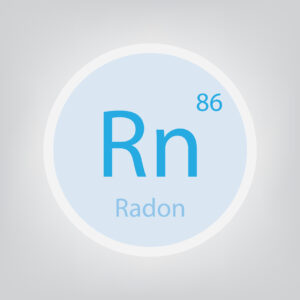 radon Rn chemical element icon